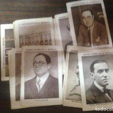 Coleccionismo Cromos antiguos: COLECCION COMPLETA 40 CROMOS CHOCOLATES EDUARDO PI GRANDES FIGURAS DE LA REPUBLICA. Lote 126294247
