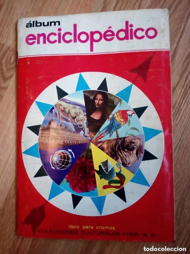 ALBUM ENCICLOPEDICO. LOTE 324 CROMOS DIFERENTES DE 380. TAMBIEN SUELTOS (Coleccionismo - Cromos y Álbumes - Cromos Antiguos)