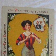 Coleccionismo Cromos antiguos: ANTIGUO CROMO LITOGRAFIADO.EL FOSFO-GLICO-KOLA DOMENECH FARMACEUTICO.BARCELONA.Nº 8. Lote 126688167