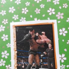 Coleccionismo Cromos antiguos: WWE SUPERSTARS UNCOVERED MERLIN STICKERS P12. Lote 126725639