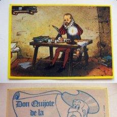 Coleccionismo Cromos antiguos: CROMO DE DON QUIJOTE DE LA MANCHA Nº62 DEL ALBUM,DON QUIJOTE DE LA MANCHA, NUNCA PEGADO. Lote 126830543