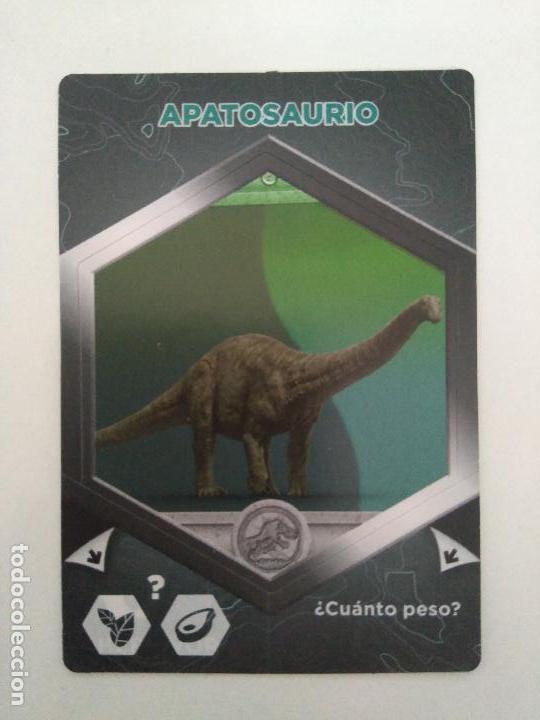 CARTA CROMO JURASSIC WORLD 2 EL REINO CAÍDO - #62 APATOSAURIO - SUPERMERCADOS DIA (Coleccionismo - Cromos y Álbumes - Cromos Antiguos)