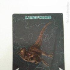 Coleccionismo Cromos antiguos: CARTA CROMO JURASSIC WORLD 2 EL REINO CAÍDO - #35 CARNOTAURO - SUPERMERCADOS DIA. Lote 127261467