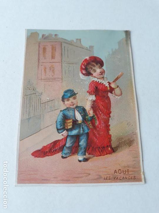 Usado, Cromo siglo XIX agosto vacaciones segunda mano