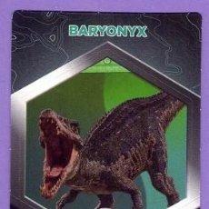 Coleccionismo Cromos antiguos: Nº 32 / 64 BARYONYX CROMO CARTA JURASSIC WORLD DINOSAURIOS - DIANOSAURIOS SUPERMERCADOS DIA. Lote 129280179