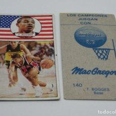 Colecionismo Cromos antigos: CROMO LIGA BALONCESTO 1986 1987 Nº 140 T. BOGGES - NUNCA PEGADO NBA J. MERCHANTE. Lote 243197860