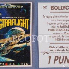 Coleccionismo Cromos antiguos: CROMO BOLLYCAO Nº 52 - STARFLIGHT - SEGA MEGA DRIVE - EL DE LAS FOTOS. Lote 130904184
