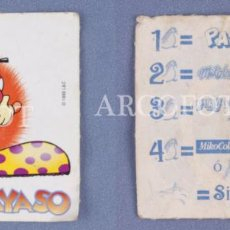 Coleccionismo Cromos antiguos: CROMO MICO - TAS PAYASO - EL DE LAS FOTOS. Lote 130931424
