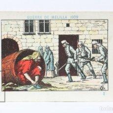 Coleccionismo Cromos antiguos: ANTIGUO CROMO DE CHOCOLATE ORPINELL - GUERRA DE MELILLA 1909 Nº 3 - VENDRELL - AÑOS 20. Lote 130977564