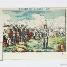 Coleccionismo Cromos antiguos: ANTIGUO CROMO DE CHOCOLATE ORPINELL - GUERRA DE MELILLA 1909 Nº 6 - VENDRELL - AÑOS 20. Lote 130977583