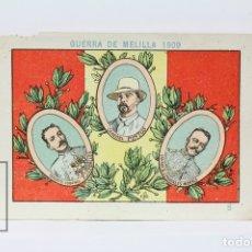Coleccionismo Cromos antiguos: ANTIGUO CROMO DE CHOCOLATE ORPINELL - GUERRA DE MELILLA 1909 Nº 8 - VENDRELL - AÑOS 20. Lote 130977609