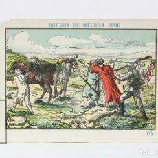 Coleccionismo Cromos antiguos: ANTIGUO CROMO DE CHOCOLATE ORPINELL - GUERRA DE MELILLA 1909 Nº 10 - VENDRELL - AÑOS 20. Lote 130977624