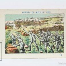 Coleccionismo Cromos antiguos: ANTIGUO CROMO DE CHOCOLATE ORPINELL - GUERRA DE MELILLA 1909 Nº 12 - VENDRELL - AÑOS 20. Lote 130977643