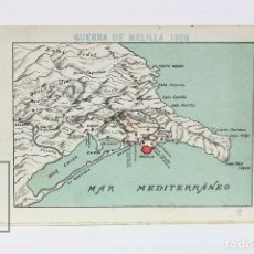 Coleccionismo Cromos antiguos: ANTIGUO CROMO DE CHOCOLATE ORPINELL - GUERRA DE MELILLA 1909 Nº 2 - VENDRELL - AÑOS 20. Lote 130977685