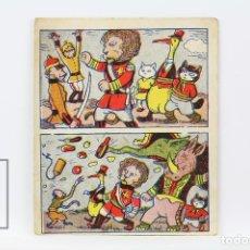 Coleccionismo Cromos antiguos: ANTIGUOS CROMOS - NUEVAS AVENTURAS DE MIAU Y BOBIN / GATO NEGRO Nº 97 Nº 98 - AÑOS 20. Lote 130977905