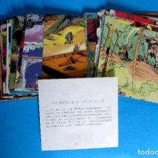 Coleccionismo Cromos antiguos: LOTE DE CROMOS. CROMOS SUELTOS; 0,50 €. VIDA Y COSTUMBRES DE LOS VIKINGOS. EDITORIAL MAGA, 1965.. Lote 130993732