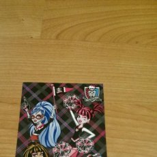 Coleccionismo Cromos antiguos: POSTAL MONSTER HIGH Nº 78 GHOULIA YELPS, DRACULAURA Y CLEO DE NILE. Lote 131055884