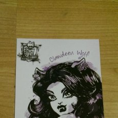 Coleccionismo Cromos antiguos: POSTAL MONSTER HIGH Nº 82 CLAWDEEN WOLF. Lote 131055984