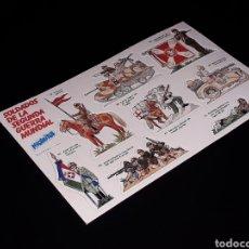 Coleccionismo Cromos antiguos: LÁMINA COMPLETA CROMOS SOLDADOS DE LA SEGUNDA GUERRA MUNDIAL, PREMIUM PHOSKITOS, ORIGINAL 1982.. Lote 131960142