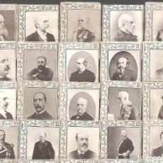 Coleccionismo Cromos antiguos: 51 FOTOTÍPIAS/CROMOS DE CAJAS DE CERILLAS-PRINCIPIO SIGLO XX-SERIE 10-FALTA 24 NÚMEROS. Lote 132492550