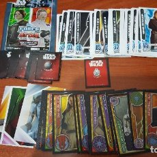 Coleccionismo Cromos antiguos: LOTE CROMOS STAR WARS TOPPS EL CAMINO JEDI TOPPS FORCE ATTAX CARREFOUR . Lote 132589962