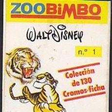 Coleccionismo Cromos antiguos: LOTE DE 33 CROMOS ZOOBIMBO NUNCA PEGADOS VER RELACION. Lote 133088626