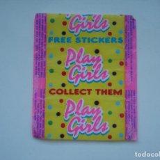 Coleccionismo Cromos antiguos: ENVOLTORIO PLAY GIRLS CROMO CHICLES BUBBLE GUM! CHICLE CROMOS RARO AÑOS 90. Lote 133395774