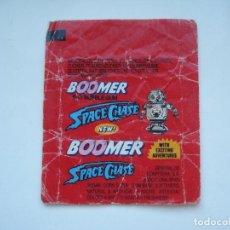 Coleccionismo Cromos antiguos: ENVOLTORIO BOOMER SPACE CHASE #1 CROMO CHICLES BUBBLE GUM! CHICLE CROMOS RARO AÑOS 90. Lote 133396206
