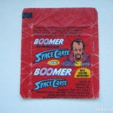 Coleccionismo Cromos antiguos: ENVOLTORIO BOOMER SPACE CHASE #2 CROMO CHICLES BUBBLE GUM! CHICLE CROMOS RARO AÑOS 90. Lote 133396258
