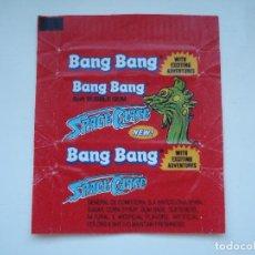 Coleccionismo Cromos antiguos: ENVOLTORIO BANG BANG SPACE CHASE #1 CROMO CHICLES BUBBLE GUM! CHICLE CROMOS RARO AÑOS 90. Lote 133396538