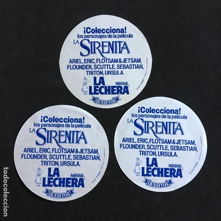 Coleccionismo Cromos antiguos: CROMO ADHESIVO PEGATINA la lechera la sirenita triton, ariel y eric - Foto 2 - 133523062