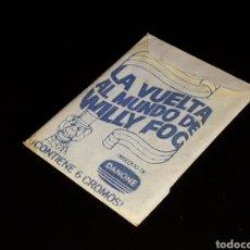Coleccionismo Cromos antiguos: SOBRE CON SUS CROMOS, LA VUELTA AL MUNDO DE WILLY FOG, DANONE, EXCELENTE, ORIGINAL AÑO 1983.. Lote 148247158