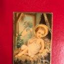 Coleccionismo Cromos antiguos: CROMO. NIÑO JESÚS EN EL PESEBRE.(H.1940?). Lote 135338258