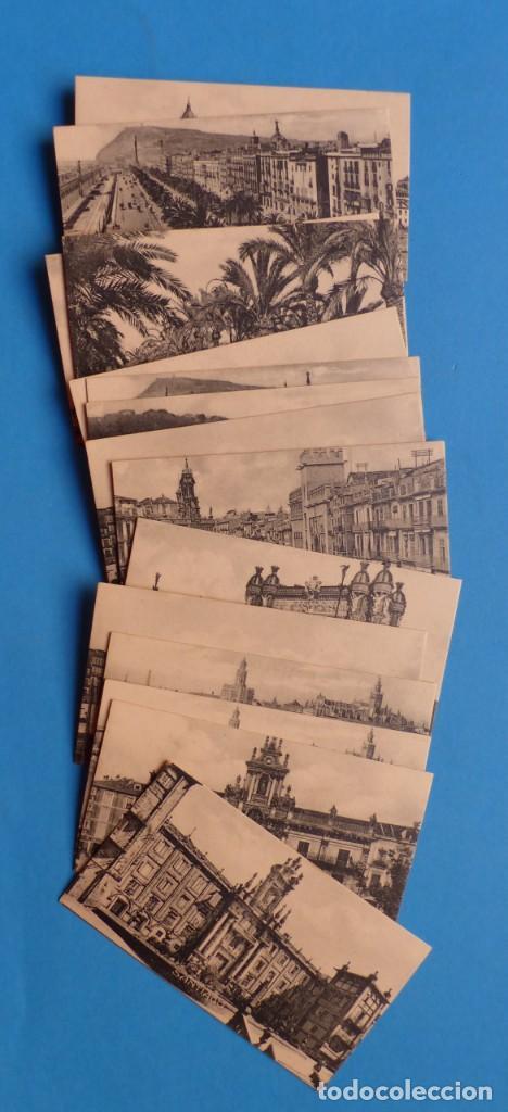 15 CROMOS-POSTALES CIUDADES ESPAÑA, AÑOS 1930-40, VER FOTOS ADICIONALES (Coleccionismo - Cromos y Álbumes - Cromos Antiguos)