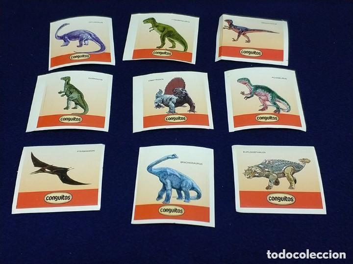 Coleccionismo Cromos antiguos: lote de 9 cromos pegatinas adhesivos dinosaurios promocion conguitos antiguo - Foto 2 - 135706291