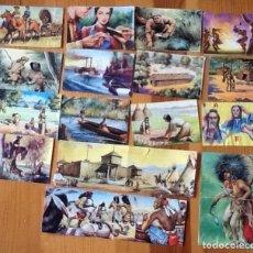 Coleccionismo Cromos antiguos: LOTE DE 19 CROMOS ÁLBUM LEJANO OESTE. Lote 136375006
