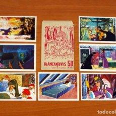 Coleccionismo Cromos antiguos: SOBRE DE CROMOS VACIO - BLANCANIEVES Y LOS 7 ENANITOS, MAS 7 CROMOS - EDITORIAL RUIZ ROMERO 1964. Lote 137480042