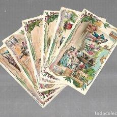 Coleccionismo Cromos antiguos: LOTE DE 6 CROMOS. VIDA ESPAÑOLA. SEVILLA, VALENCIA, MADRID, ARAGON. PUBLICIDAD. COMPAÑIA LIEBIG. VER. Lote 137619078