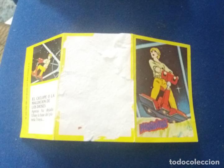 Coleccionismo Cromos antiguos: DIFICIL CROMO TRIPTICO ULISES 31 PHOSKITOS CAPITULO CÍCLOPE MALDICIÓN DIOSES 1 CON TIRA DE PUNTOS - Foto 2 - 137810934
