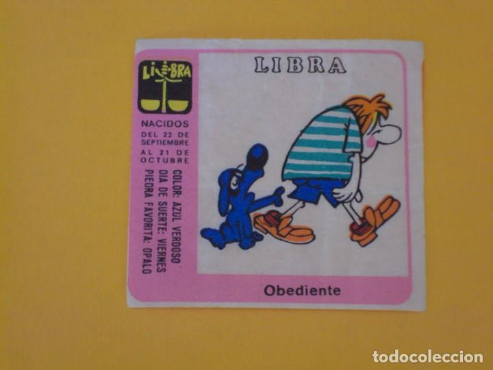CROMO CHICLE NIÑA HORÓSCOPO ZODÍACO LIBRA OBEDIENTE. AÑO 1970. NUNCA PEGADO. (Coleccionismo - Cromos y Álbumes - Cromos Antiguos)
