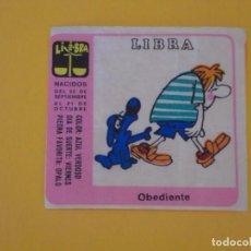 Coleccionismo Cromos antiguos: CROMO CHICLE NIÑA HORÓSCOPO ZODÍACO LIBRA OBEDIENTE. AÑO 1970. NUNCA PEGADO.. Lote 137867542