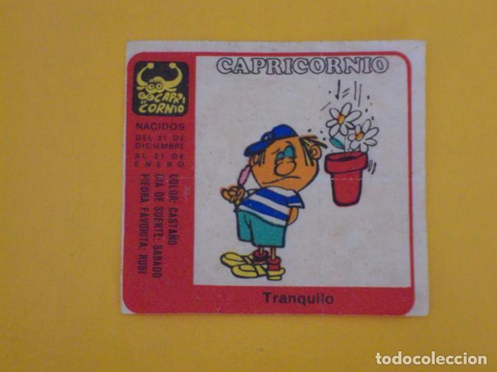 CROMO CHICLE NIÑA HORÓSCOPO ZODÍACO CAPRICORNIO TRANQUILO. AÑO 1970. NUNCA PEGADO. (Coleccionismo - Cromos y Álbumes - Cromos Antiguos)