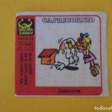 Coleccionismo Cromos antiguos: CROMO CHICLE NIÑA HORÓSCOPO ZODÍACO CAPRICORNIO CABEZOTA. AÑO 1970. NUNCA PEGADO.. Lote 137867742