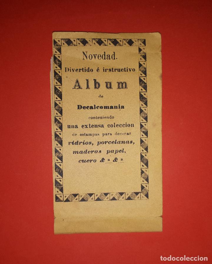 ANTIGUO ALBUM DE CALCOMANÍAS SIGLO XIX (Coleccionismo - Cromos y Álbumes - Cromos Antiguos)