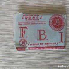 Coleccionismo Cromos antiguos: ANTIGUOS CROMOS Y SOBRE DEL ALBUM FBI - UNOS 6O CROMOS - AÑOS 1950 - EDITORIAL ROLLAN -. Lote 138988694