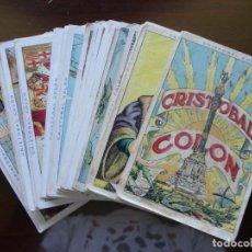 Coleccionismo Cromos antiguos: CRISTOBAL COLÓN- COLECCIÓN DE 40 CROMOS COMPLETA - CHOCOLATES JUNCOSA. Lote 139189986