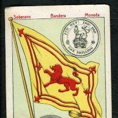 Coleccionismo Cromos antiguos: CROMO SOBERANO BANDERA MONEDA - ESCOCIA - NÚM. 38 SERIE B - CHOCOLATE IMPERIAL - CIRCA 1910. Lote 139248054
