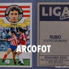 Coleccionismo Cromos antiguos: LIGA 85 - 86 - RUBIO - ATLETICO DE MADRID - EDICIONES ESTE. Lote 139771826