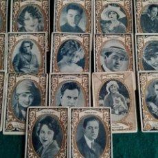 Coleccionismo Cromos antiguos: 17 CROMOS SERIE B GALERIA CINEMATOGRAFICA .- CHOCOLATES ORTHI TARRAGONA. Lote 140391408