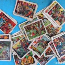 Coleccionismo Cromos antiguos: LOTE DE 100 CROMOS PARA ALBUM , LA SOMBRA DEL COYOTE, ORIGINALES , 4B. Lote 140740998